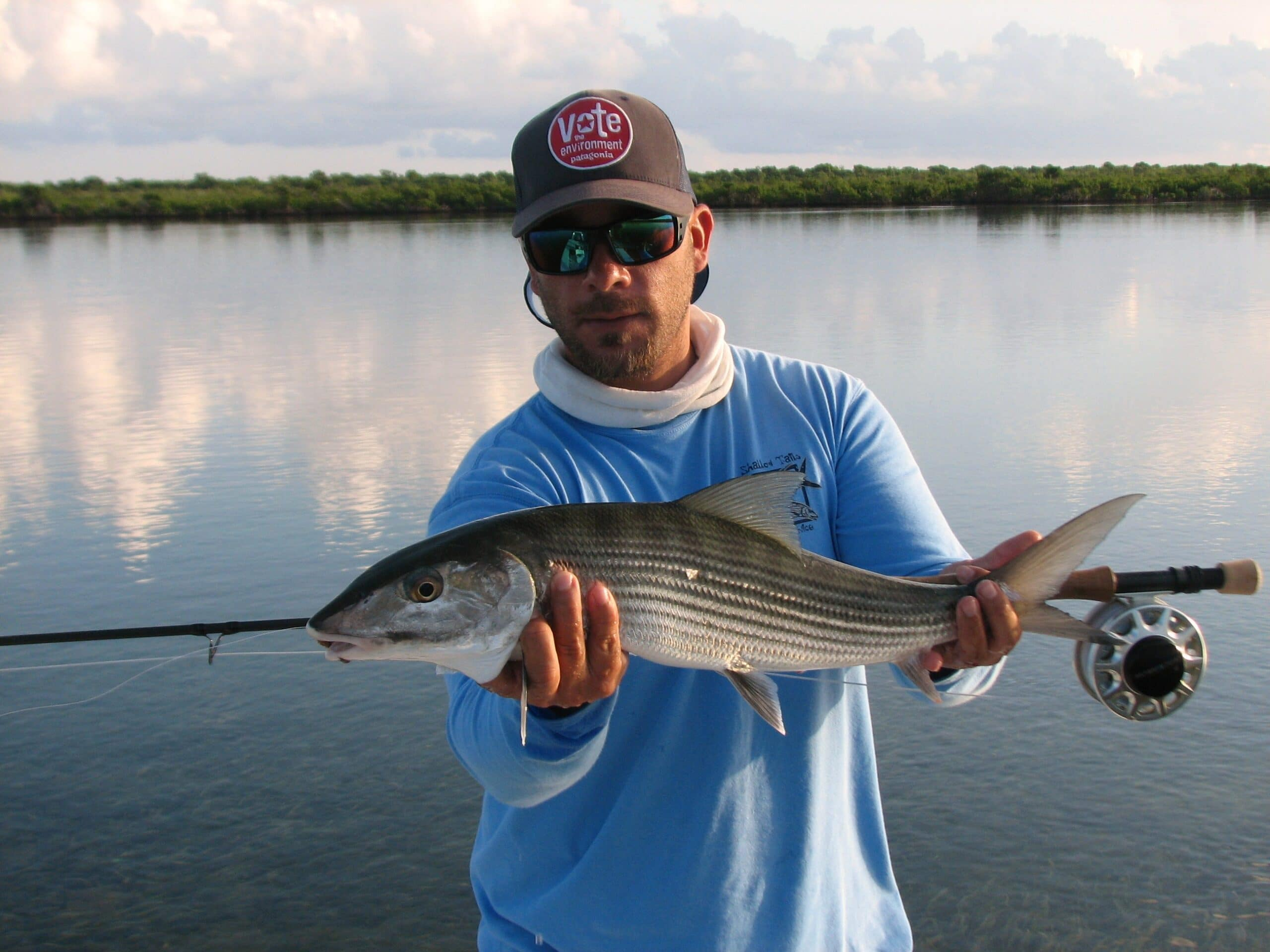 Miami Florida Bonefishing:High Water Low Light Tough Fishing.