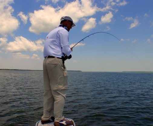 Alfredo From Italy With a Flamingo Redfish On Fly
