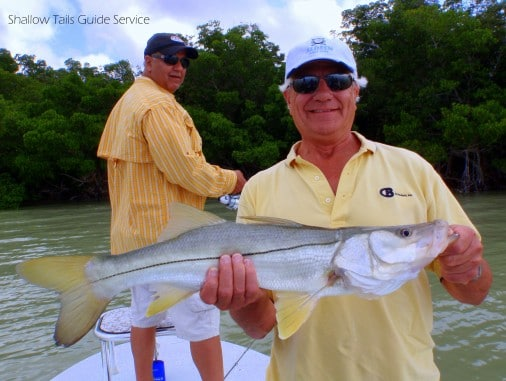 Randy with his first Flamingo Snook