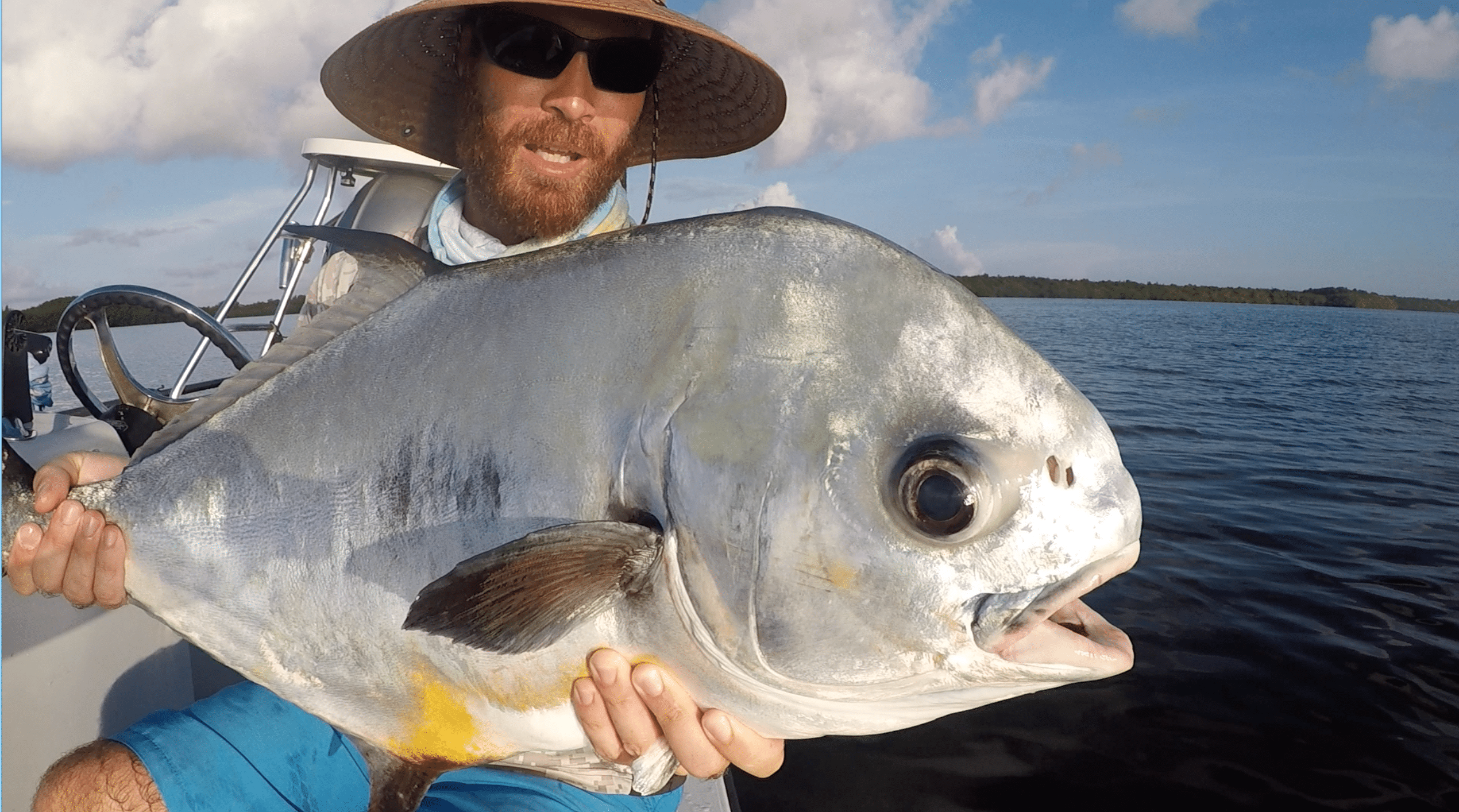 Capt. Charlie Ellis with a biscayne bay permit