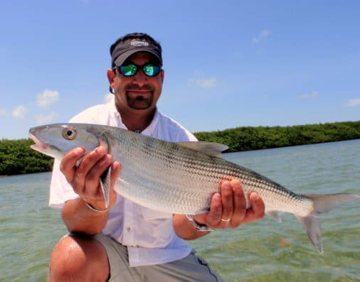 Bone fishing with Capt. Raul Montoro