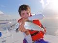 Fun day of bone fishing in Miami, Florida