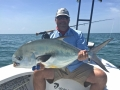 Emanuel from Panama with his largest fly caught permit