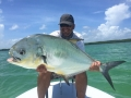 Juan from Miami big his largest sight fished permit on the flats.